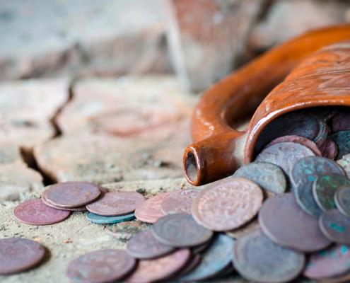 Gevonden munten reinigen